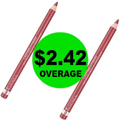 PRINT Now For TWO (2!) FREE + $2.42 OVERAGE On Rimmel Lip Liners at CVS! (Ends 3/31)