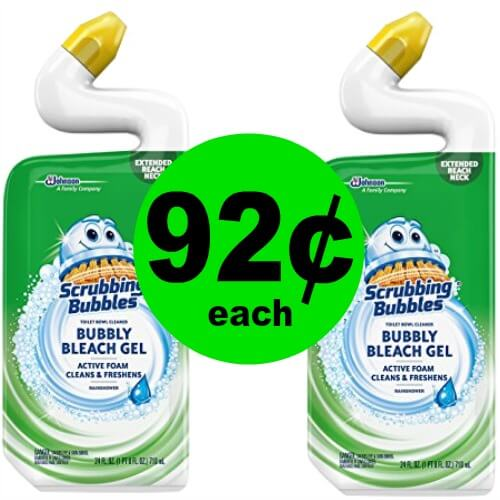 Fox Deal of the Week:  Scrubbing Bubbles Toilet Bowl Cleaner Only 92¢ at Publix!