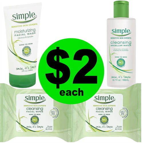 Just $7.98 for (4) Simple Facial Care Products at Publix! (Ends 3/24)