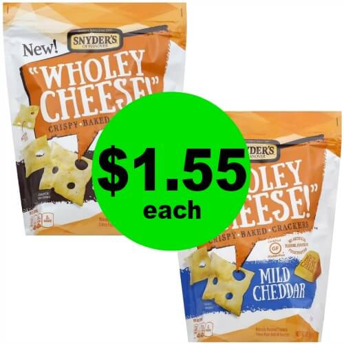 Crunch On with $1.55 Snyder's Wholey Cheese Baked Crackers at Publix! (Ends 3/31)