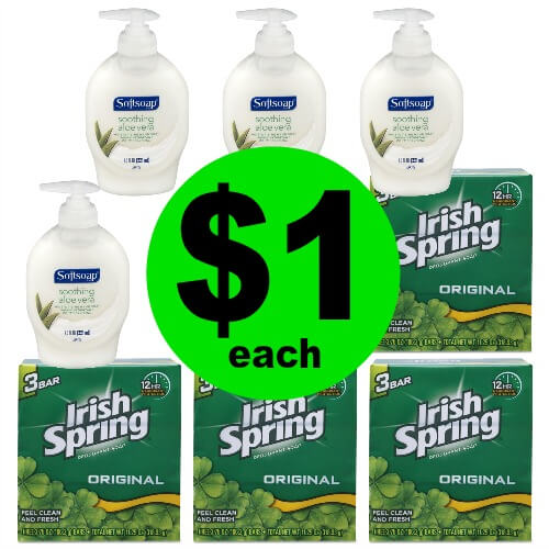 Head to CVS to Grab $1 Softsoap Hand Soap or Irish Spring 3 Pack Bar (No Coupon Needed)! (4/1-4/7)