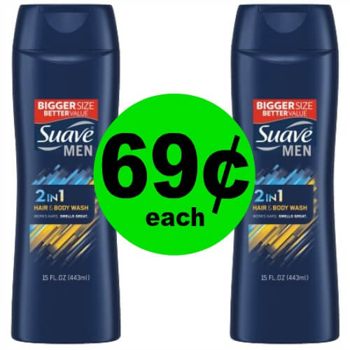 Keep Your Men Clean from Head to Toe! Snag Suave Men 2in1 Hair & Body Wash for 69¢ Each at Publix! (3/10-3/11 ONLY)