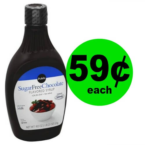 Make Life Sweeter! Publix Sugar Free Chocolate Syrup is $.59 Each at Publix! (Ends 4/4)