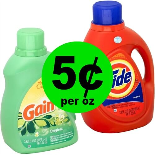 RUN to CVS to Grab The BIG 100 oz Bottles of Tide & Gain Detergent for $5.44 Each! (Ends 3/24)