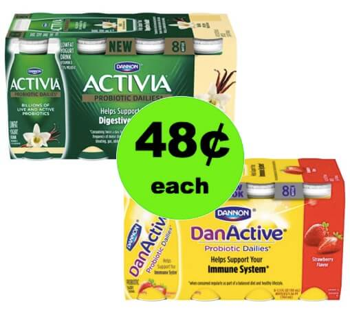 Pick Up 48¢ DanActive & Activia Daily Smoothie 8 Packs at Walmart!
