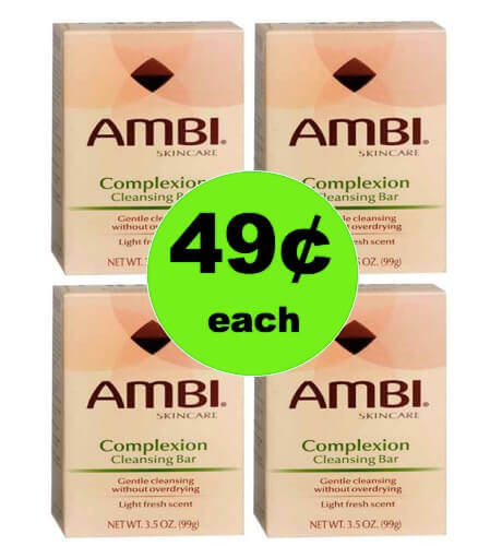 Wash Your Face with 49¢ Ambi Complexion Cleansing Bar at Walgreens! (Ends 4/7)
