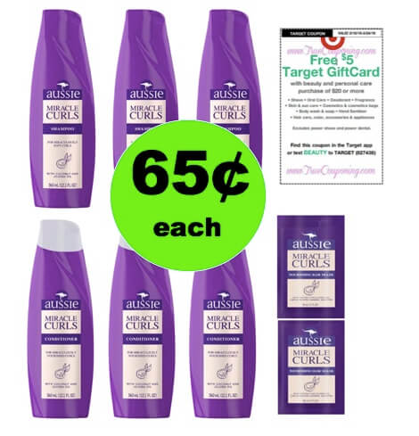 Your Hair is Gonna Look Great with 65¢ Aussie Miracle Curls Hair Care at Target! (Ends 3/24)