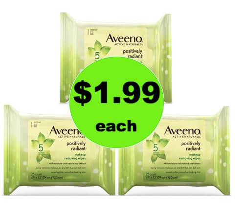 Clean Up Quick with $1.99 Aveeno Positively Radiant Makeup Removing Wipes at Target! (Ends 3/17)