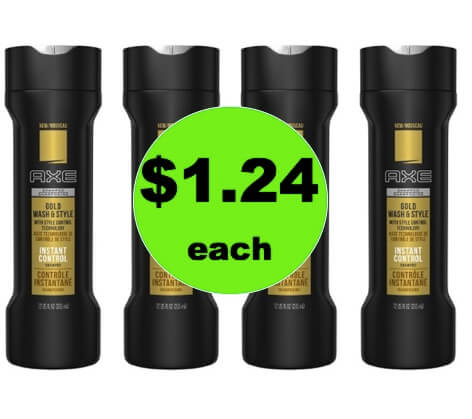 Your Guys Will Love $1.24 Axe Gold Shampoo at Target! (Ends 3/17)