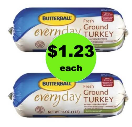 CHEAP MEAT! Pick Up $1.23 Butterball Ground Turkey 1 Pound Rolls at Walgreens! (Ends 3/24)