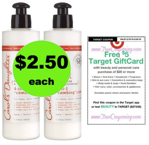 Detangle Those Curls with $2.50 Carol's Daughter Hair Care at Target (Reg. $10)! (Ends 3/24)