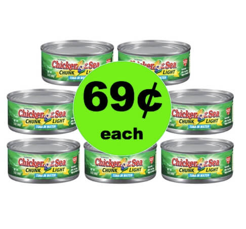 STOCK UP on 69¢ Chicken of the Sea Chunk Light Tuna at Winn Dixie! (Ends 4/3)