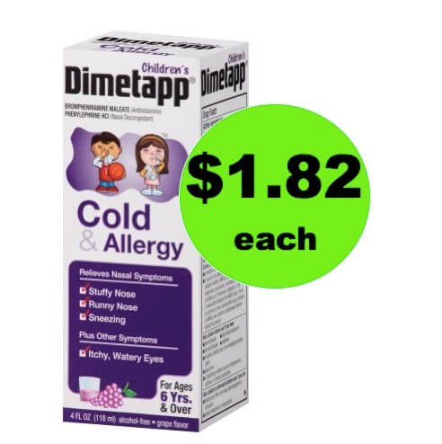 Stop that Cough with $1.82 Children's Dimetapp at Walmart!