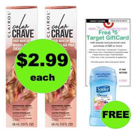 Switch It Up with $2.99 Clairol Color Crave Hair Makeup at Target (Reg. $10)! (Ends 3/24)