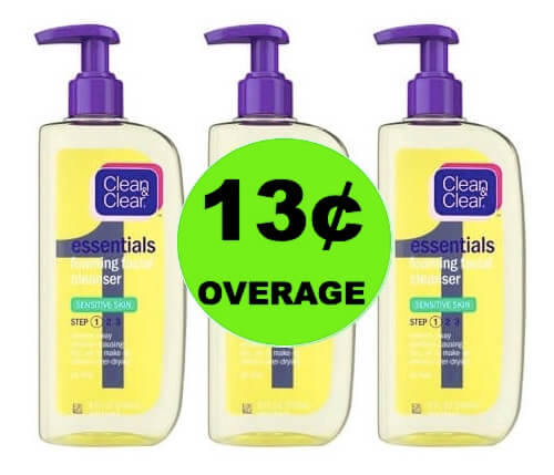 THREE (3!) FREE + 13¢ OVERAGE on Clean & Clear Facial Care at Target! (Ends 3/17)