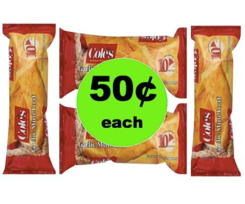 Enjoy Fresh Baked Garlic Bread with 50¢ Cole's Mini Loaf at Winn Dixie! (Ends 3/6)