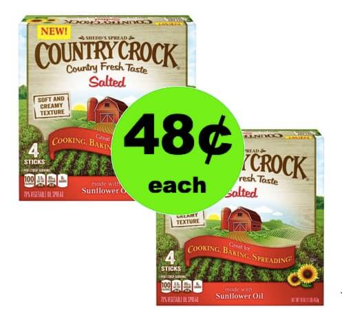 Bring On the Rolls with 48¢ Country Crock Salted Butter Sticks at Walmart! (Ends 4/1)
