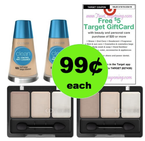 PRINT Now for 99¢ CoverGirl Cosmetics at Target (at Walmart too)! (Ends 3/24)