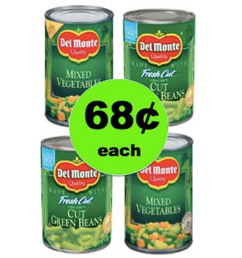 STOCK UP with 68¢ Del Monte Canned Vegetables at Target! (Ends 3/31)