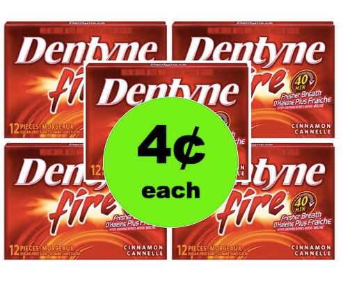 STOCK UP with 4¢ Dentyne Gum Singles at Walgreens (After Rebate – At Walmart Too)! (Ends 3/21)