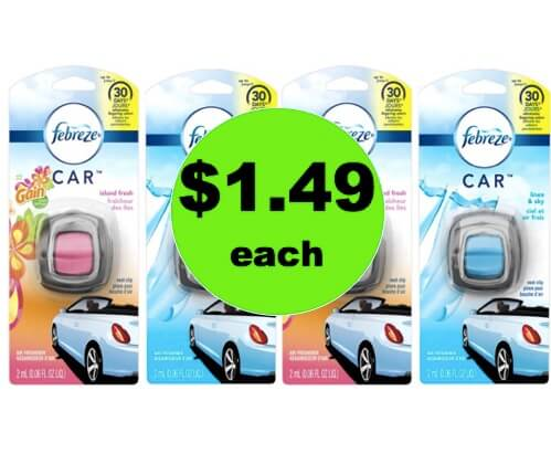 Pick Up $1.49 Febreze Car Vent Clip Air Freshener at Walmart! (Ends 3/31)