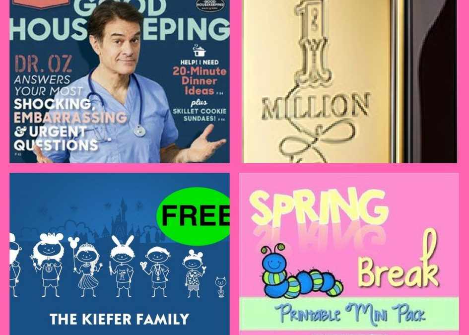 Don't Miss These FOUR (4!) FREEbies: One-Year Subscription to Good Housekeeping Magazine, Paco Rabanne Fragrance, Disney Family Decal and Spring Break Printable Mini Pack!
