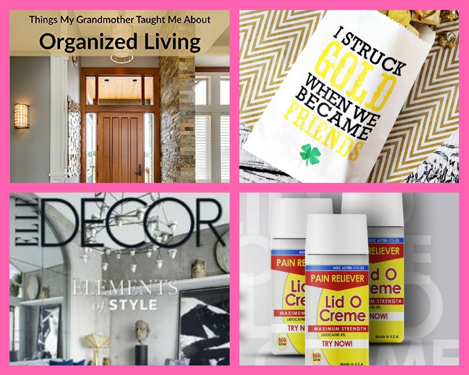 Did Your See These FOUR (4!) FREEbies: Organized Living eBook, St. Patrick's Day Gift Idea, One-Year Subscription to Elle Decor Magazine and Lid O Cream Product!