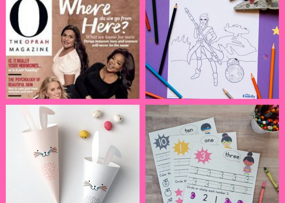 Make Sure You Snag These FOUR (4!) FREEbies: One Year Subscription to Oprah Magazine, StarWars Coloring Sheets, Easter Treat Cones and Preschool SuperHero Number Worksheets!