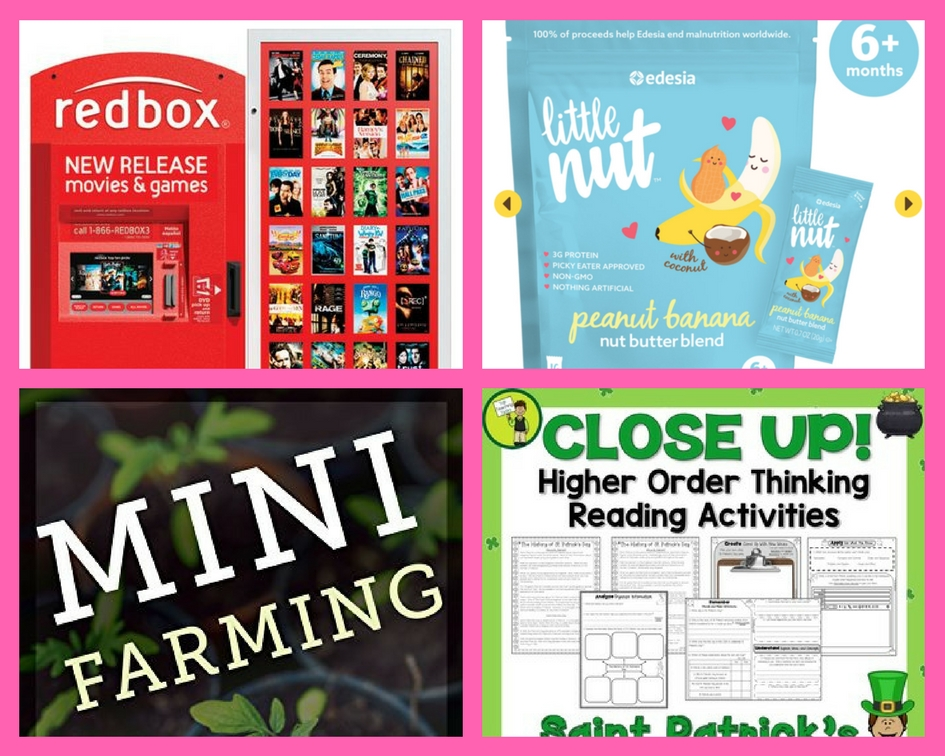 Did You See These FOUR (4!) FREEbies: Redbox Game Rental, Little Nut Protein Packets, Mini Farming eBook and Higher Order Reading Activity Printable!