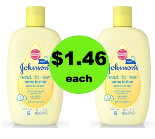 Love the Baby with $1.46 Johnson's Head-To-Toe Baby Lotion at Walmart! (Ends 3/25)