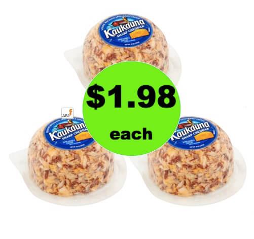 Pick Up $1.98 Kaukauna Spreadable Cheeseball at Walmart (After Rebate)!