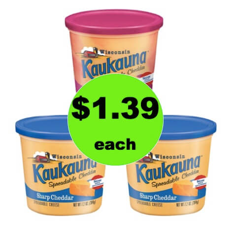 Break Out the Crackers for $1.39 Kaukauna Spreadable Cheese at Target! (Ends 4/7)