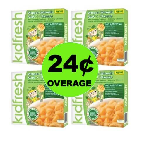 FOUR (4!) FREE + 24¢ OVERAGE on Kidfresh Frozen Meals at Target! (Ends 4/14)