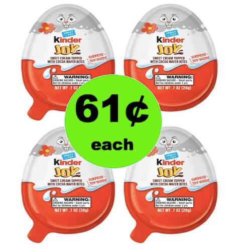 Great for Easter Baskets! Get 61¢ Kinder Joy Easter Candy Singles at Target! (Ends 3/31)