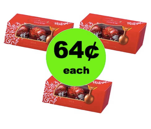 Perfect for Easter! Get 64¢ Lindt Lindor Milk Chocolate Truffles at Walmart!