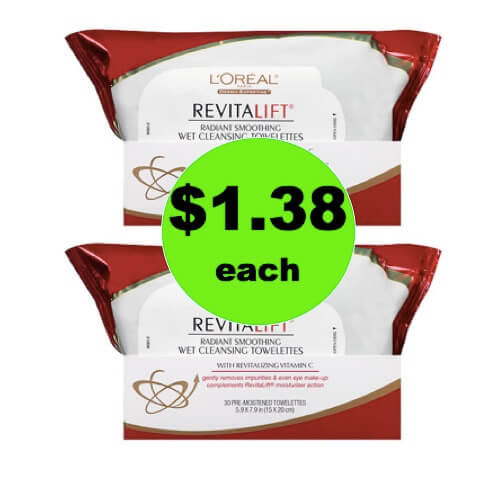 Nourish Your Skin with $1.38 L'Oreal Revitalift Cleansing Towelettes at Walgreens! (Ends 3/10)