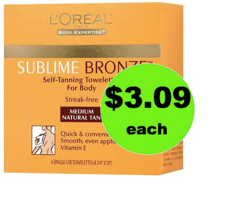 Get 56% Off L'Oreal Sublime Bronze Self-Tanning Towelettes at Target! (Ends 3/31)
