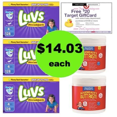 Get (3) Luvs Value Size Boxes & (2) Boudreaux's Paste JUST $14.03 Each at Target! (Ends 3/10)