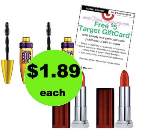 Pick Up $1.89 Maybelline Mascara & Lipstick at Target! (Ends 3/24)