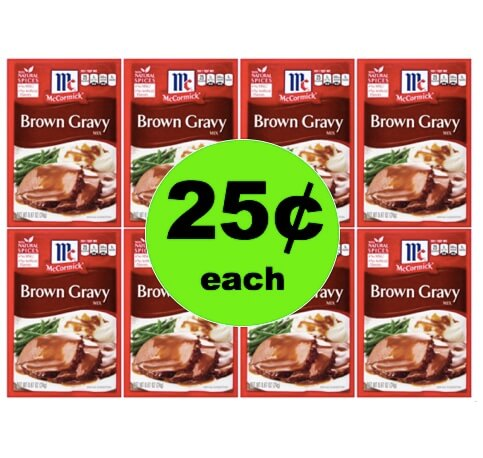 Fill Up the Gravy Boat with 25¢ McCormick Brown Gravy Packets at Winn Dixie! (Ends 4/3)