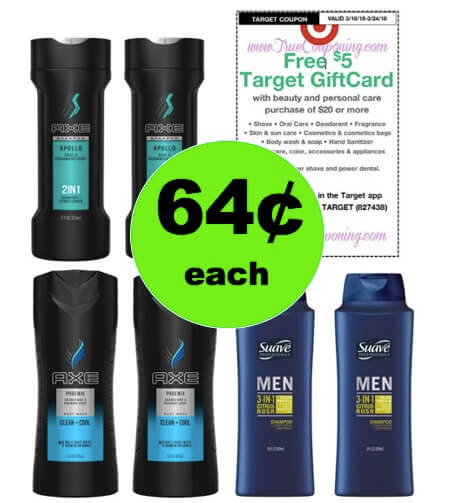 Lookin' Good Guys! Snag 64¢ Axe & Suave Men's Products at Target! (Ends 3/24)