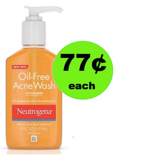 Ban Those Blemishes with 77¢ Neutrogena Oil-Free Acne Face Wash at Walmart! (Ends 3/31)