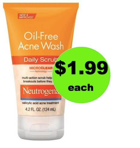 Bye-Bye Blemishes with $1.99 Neutrogena Oil-Free Acne Daily Scrub at Target! (Ends 3/31)