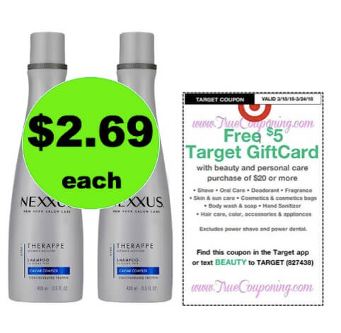 Nourish Your Hair with $2.69 Nexxus Hair Care at Target (Reg. $12)! (Ends 3/24)