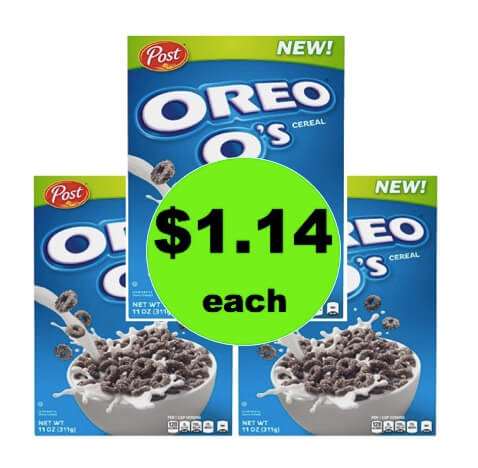 STOCK UP on Post Oreo O's Cereal Only $1.14 at Target! (Ends 3/17)