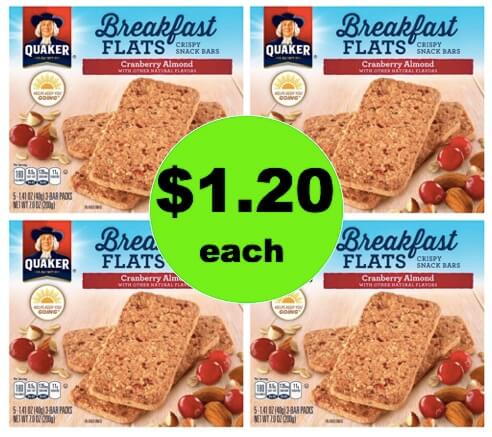 Healthy Breakfast on the Fly! Get $1.20 Quaker Breakfast Flats at Target! (Ends 3/17)
