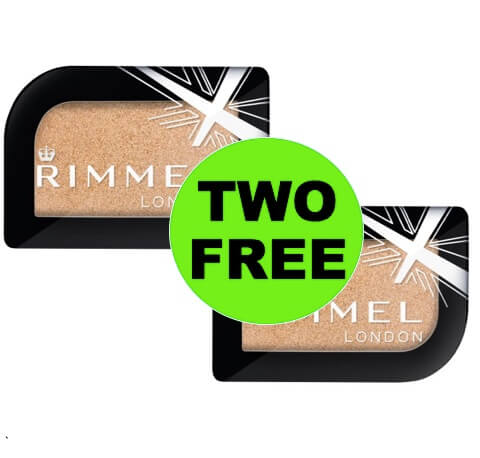 PRINT NOW for TWO (2!) FREE Rimmel London Magnif'Eyes Shadow at Walmart!