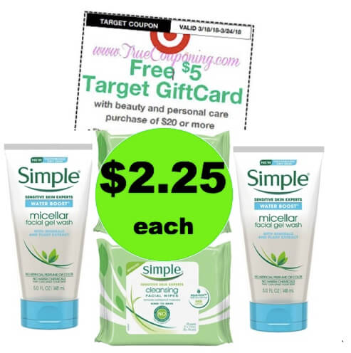 Get Clean Skin with $2.25 Simple Wipes & Cleansing Gel at Target (at Publix too)! (Ends 3/24)