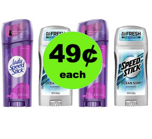 Be Ready for the Heat with 49¢ Men's and Ladies' Speed Stick Deodorant at Winn Dixie! (Ends 4/3)