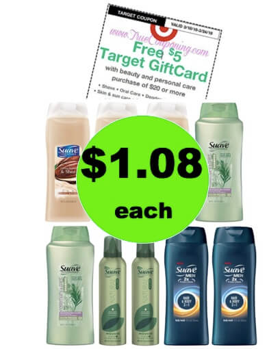 HUGE Stock Up Deal with $1.08 Suave Hair & Body Care Products at Target! (Ends 3/24)